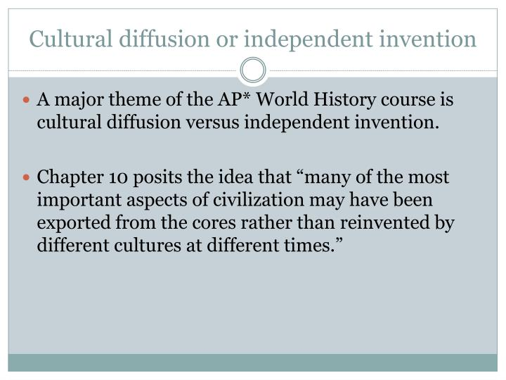 Cultural diffusion or independent invention