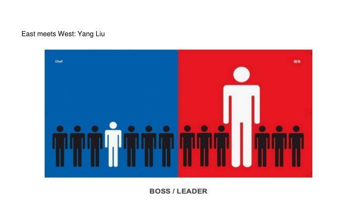 East meets West: Yang Liu