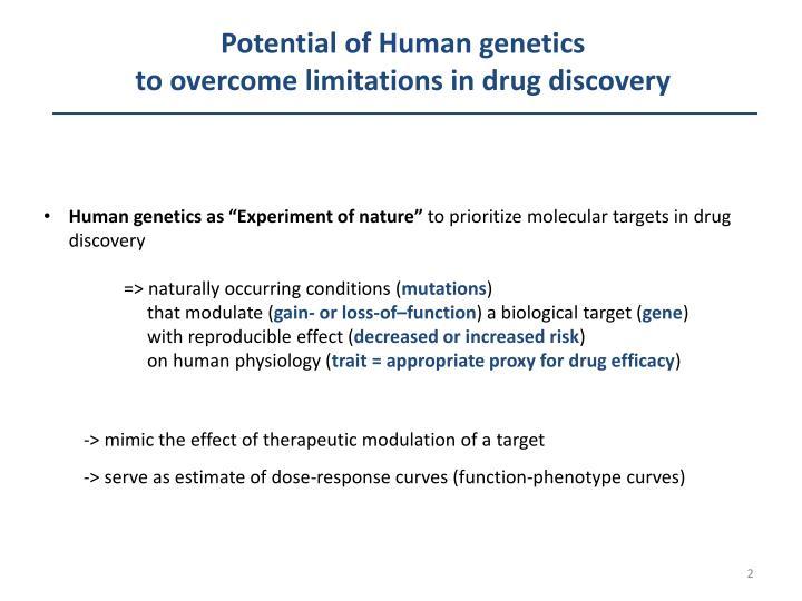 Potential of Human genetics