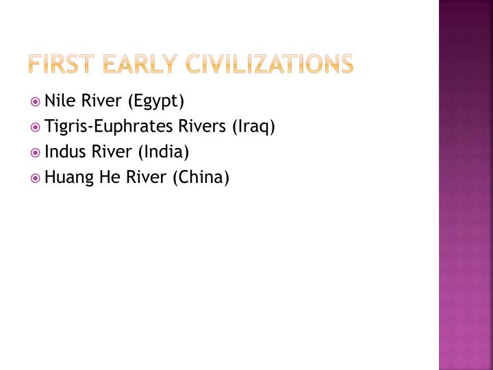 First Early Civilizations