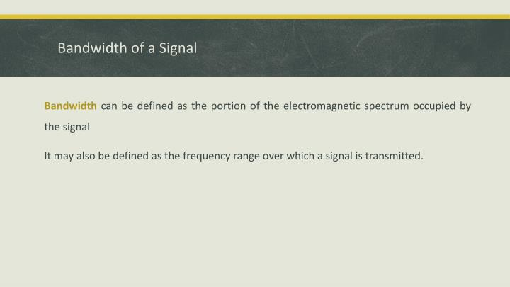 Bandwidth of a Signal