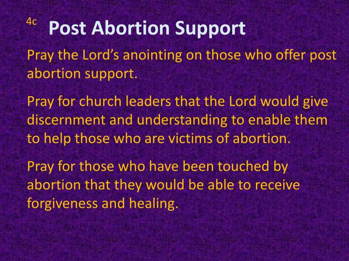 Post Abortion Support