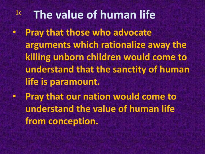 The value of human life