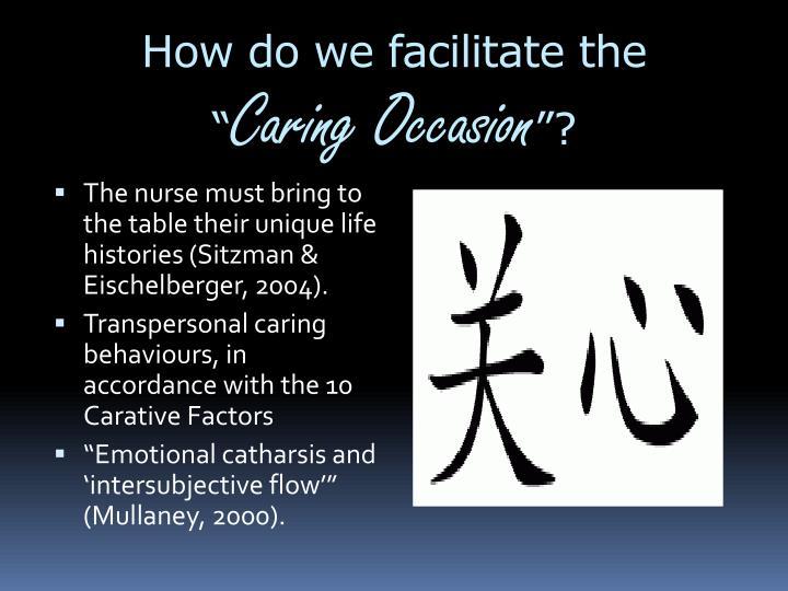 How do we facilitate the