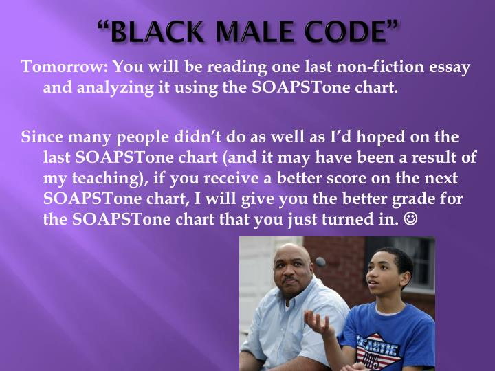 """BLACK MALE CODE"""