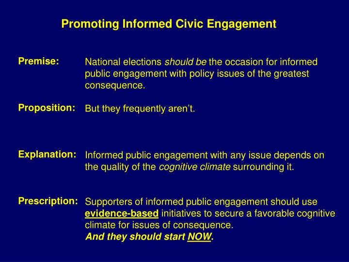 Promoting Informed Civic Engagement