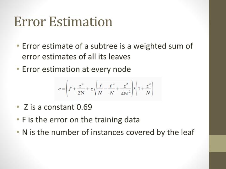 Error Estimation