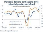 domestic demand continues to drive industrial production inbrazil