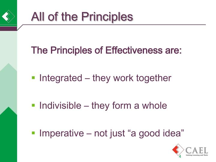 All of the Principles