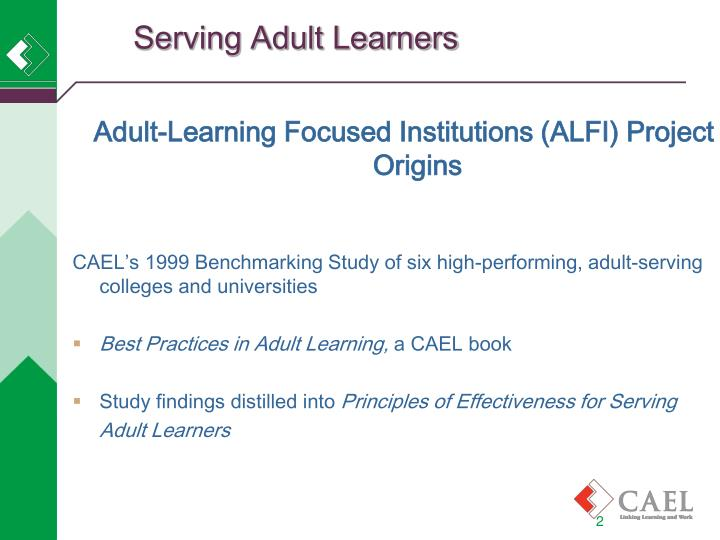 Serving adult learners