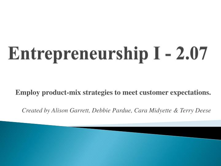 entrepreneurship i 2 07