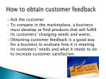 how to obtain customer feedback