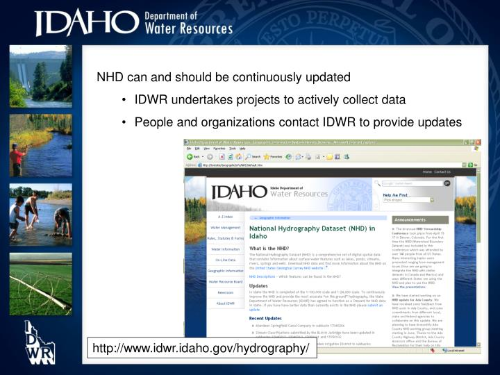 NHD can and should be continuously updated