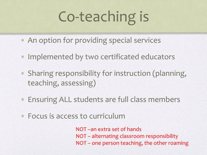 Co-teaching is
