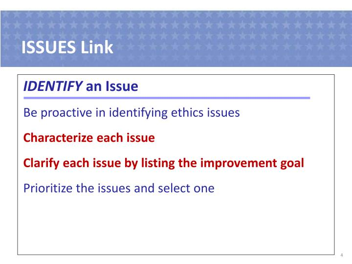 ISSUES Link