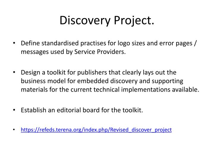 Discovery Project.