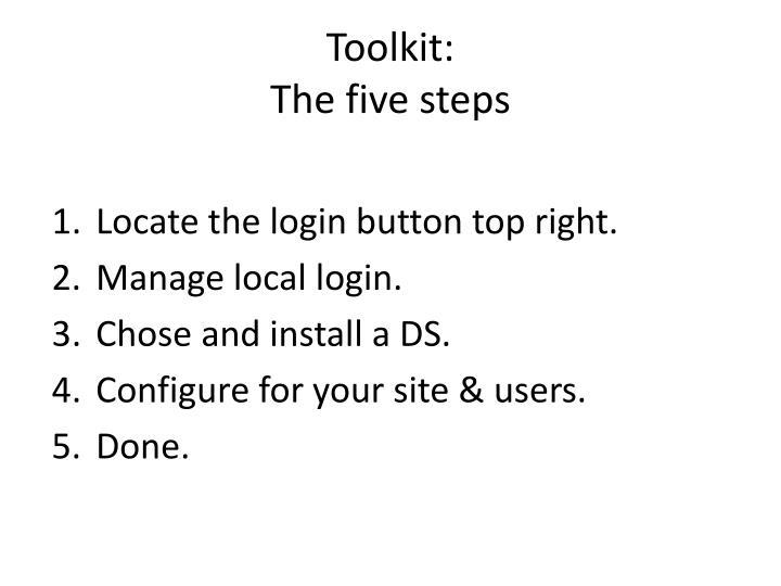Toolkit: