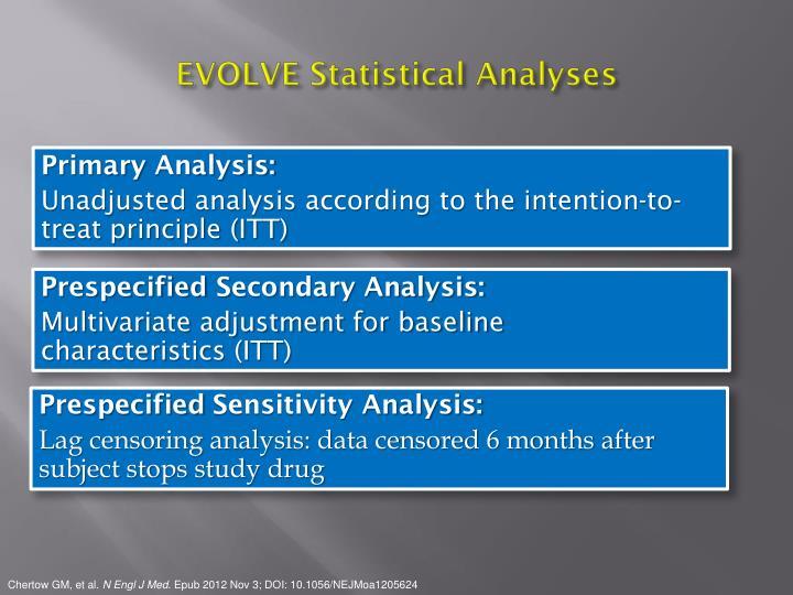 EVOLVE Statistical Analyses
