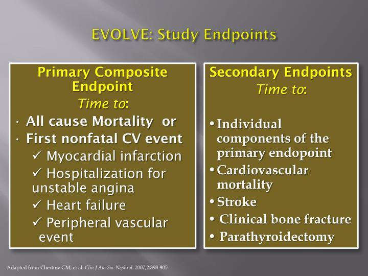 EVOLVE: Study Endpoints