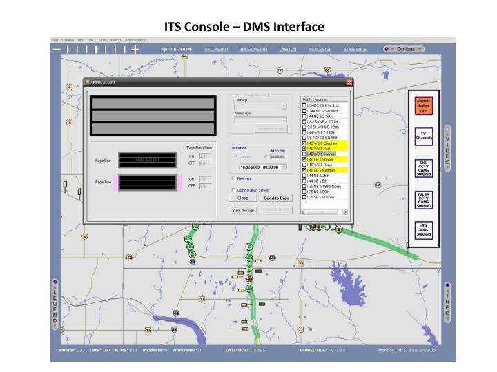 ITS Console – DMS Interface