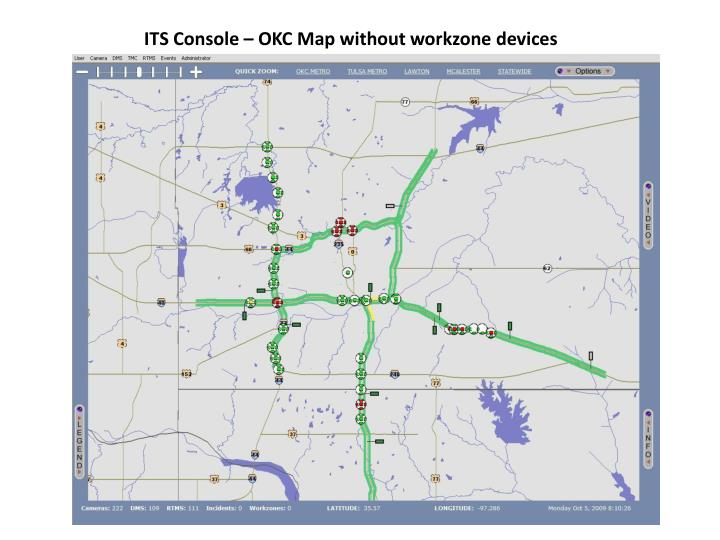 ITS Console – OKC Map without workzone devices