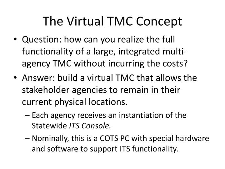 The Virtual TMC Concept