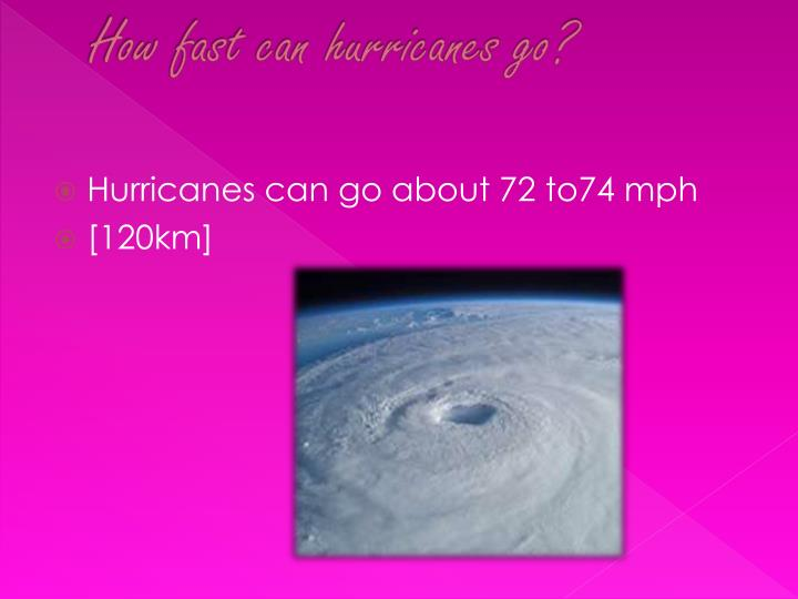 How fast can hurricanes go?