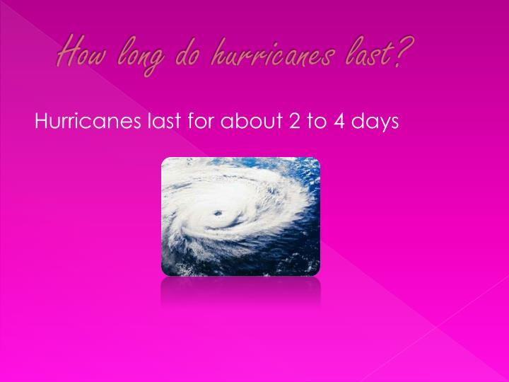 How long do hurricanes last?