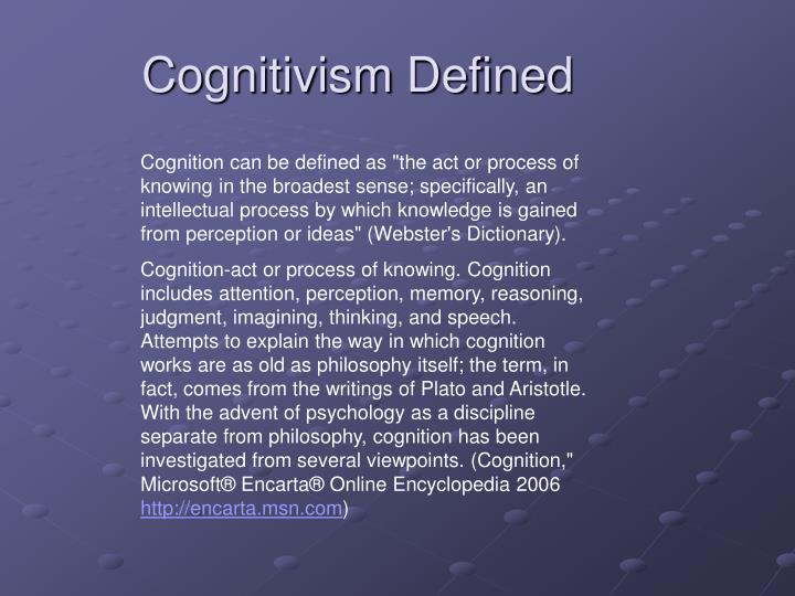 Cognitivism defined