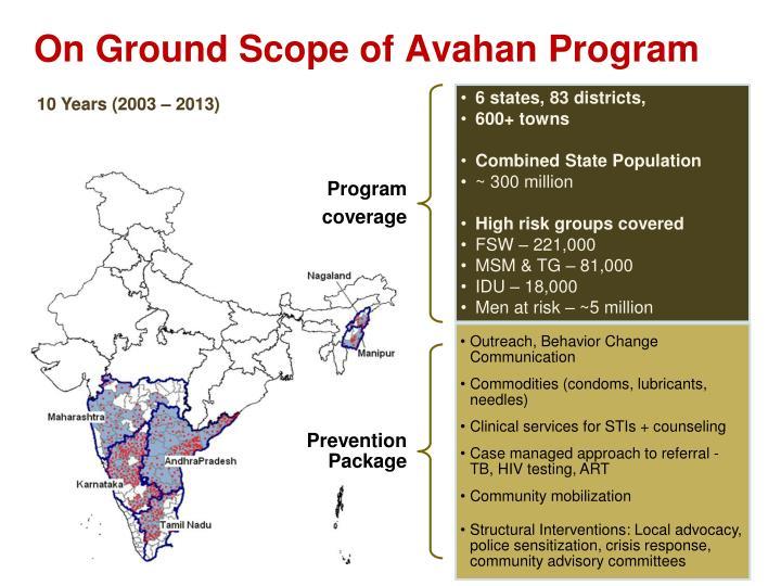 On Ground Scope of Avahan Program