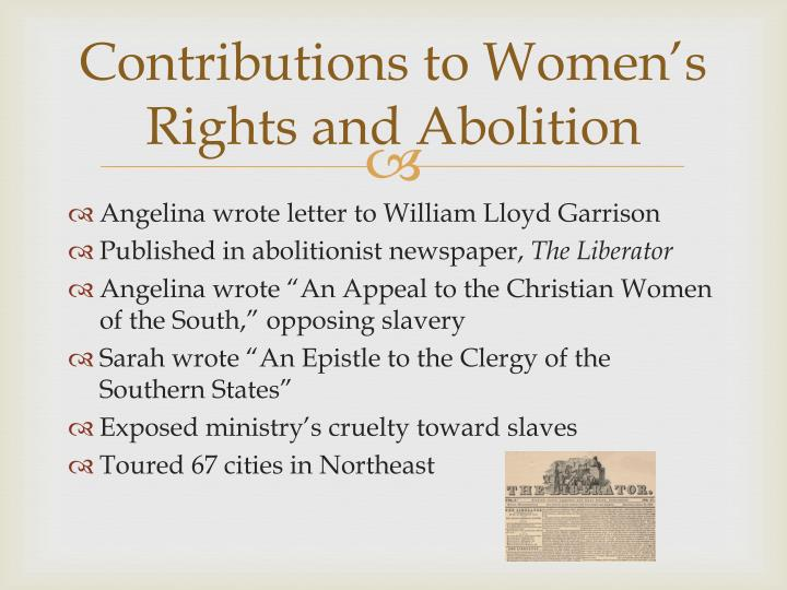 Contributions to Women's Rights and Abolition
