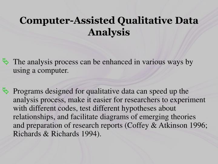 Computer-Assisted Qualitative Data