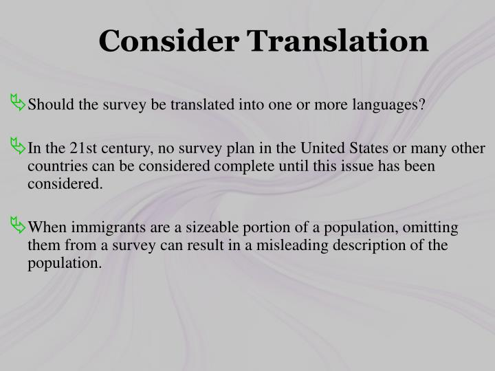 Consider Translation