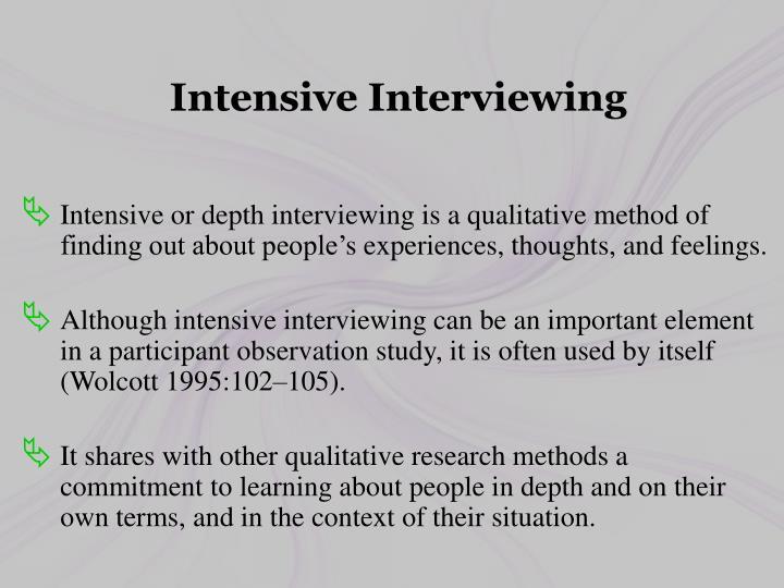 Intensive Interviewing