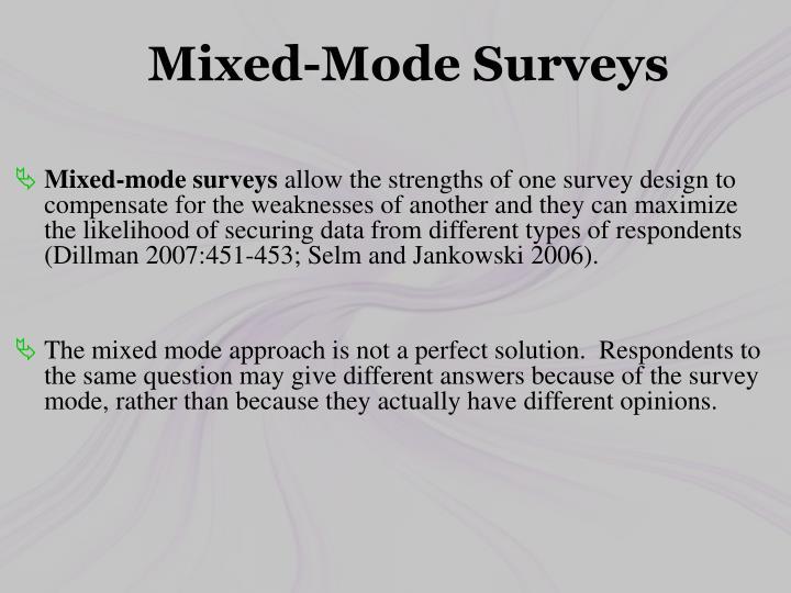 Mixed-Mode Surveys