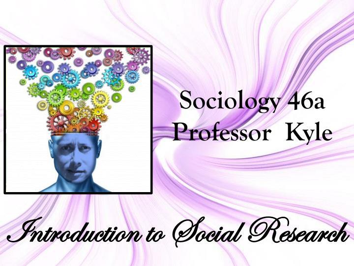 Sociology 46a