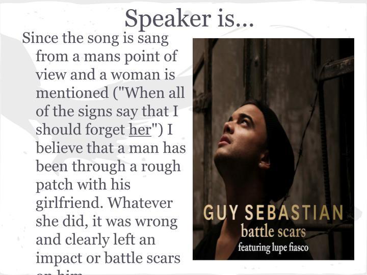 Speaker is...