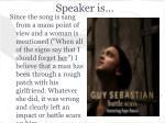 speaker is
