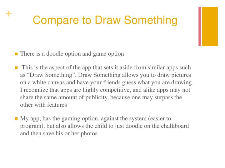 Compare to Draw Something