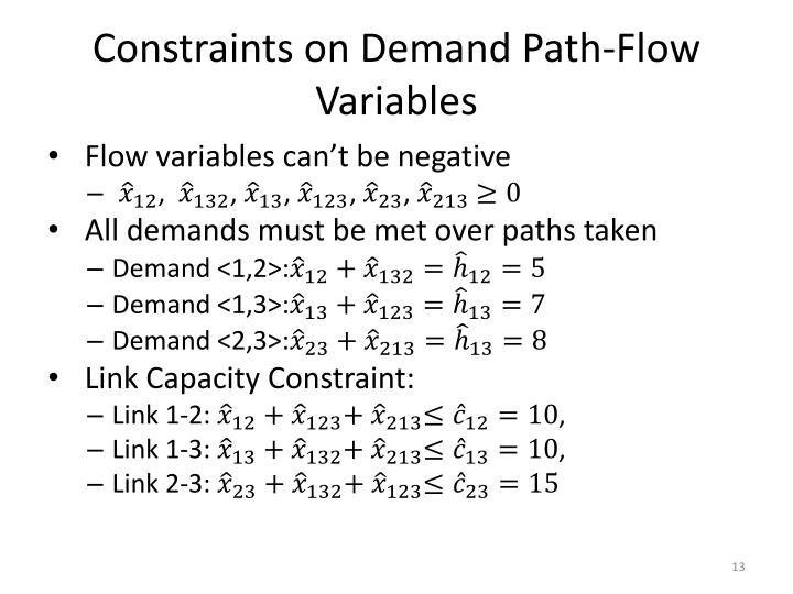 Constraints on Demand Path-Flow Variables