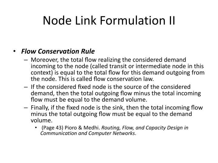 Node Link Formulation II