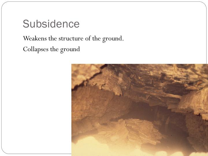 Subsidence