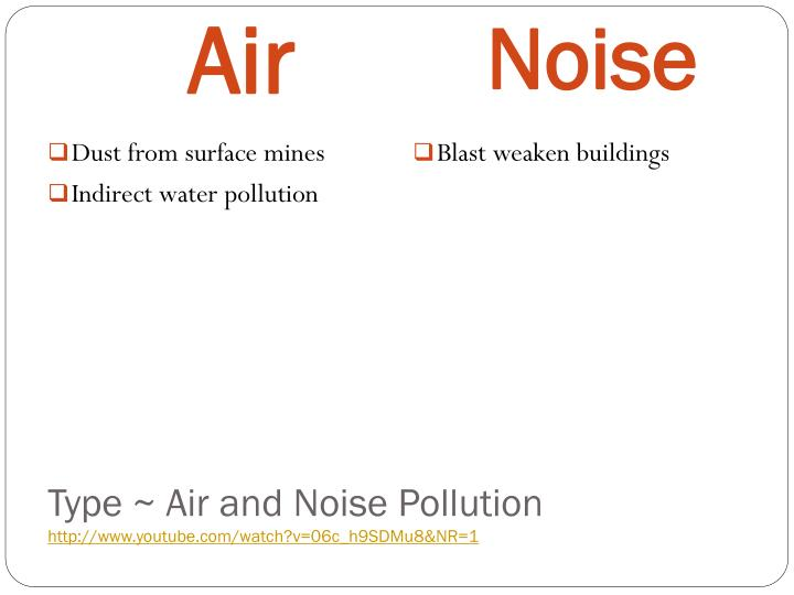 Type ~ Air and Noise Pollution