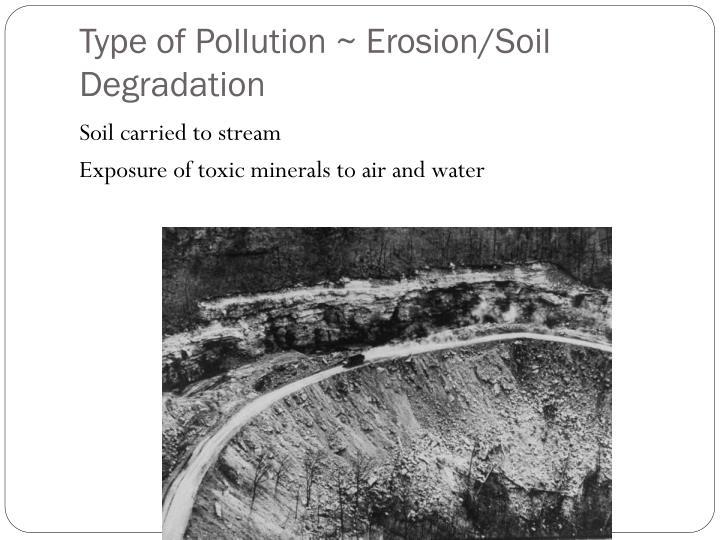 Type of Pollution ~ Erosion/Soil Degradation
