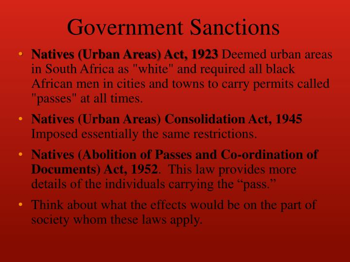 Government Sanctions