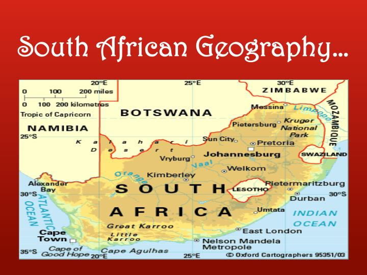South African Geography…