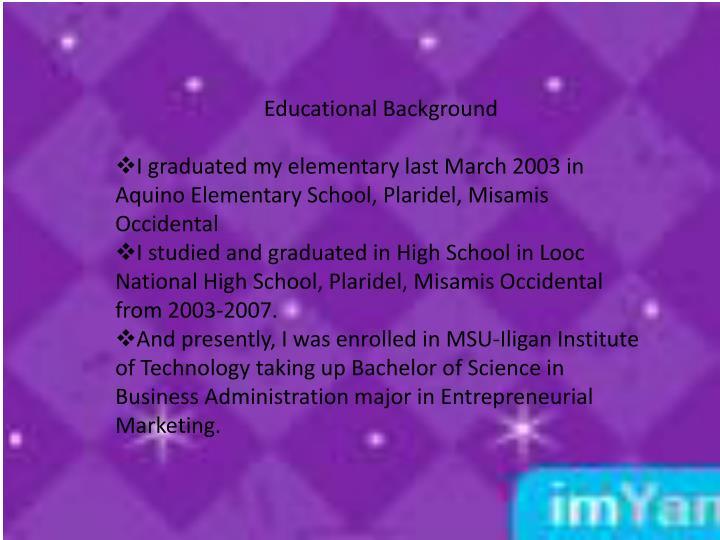 Educational Background