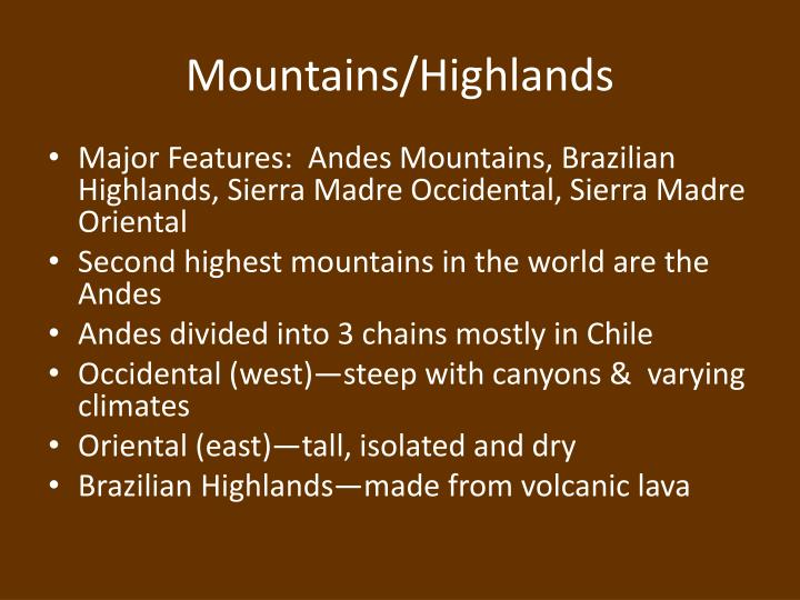 Mountains highlands