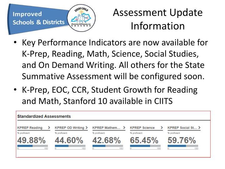 Assessment Update Information