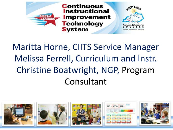 Maritta Horne, CIITS Service Manager